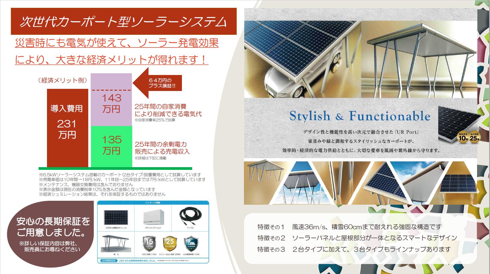 商品画像:カーポート型ソーラーシステム
